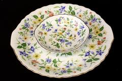 Two Piece Porcelain Andrea By Sadek Spring Time Party Server Set
