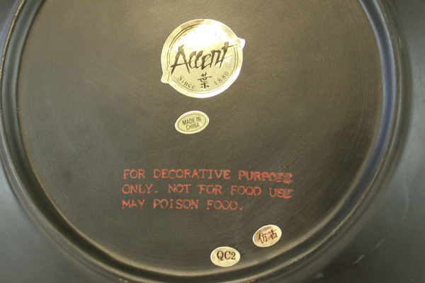 "Oriental Accent Pottery Piment Rouge Cayenne Vegetable Decor Plate 10"""