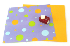 Emagination Craft Decorative Corner Paper Punch w/ Polka Dotted & Orange Paper