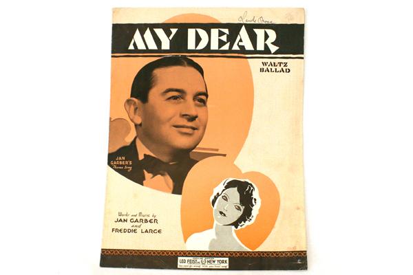 My Dear Sheet Music 1934-Jan Garber & Freddie Large