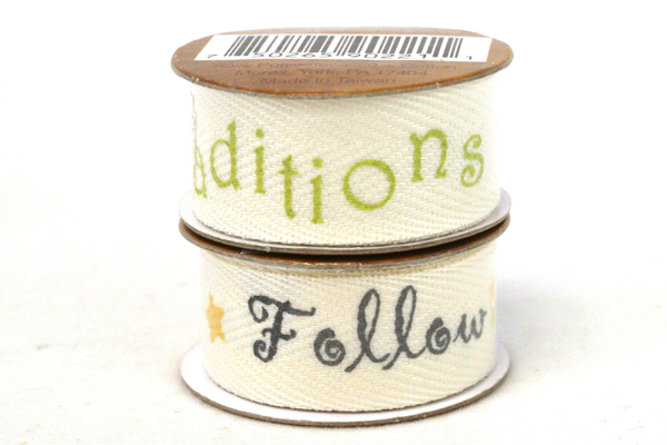 Scrapbooking Decorative Ribbon Lot of 8 White Ribbon Rolls - 6 with Phrases