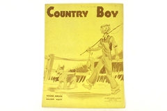 Country Boy Sheet Music 1934-Richard Jerome & Walter Kent