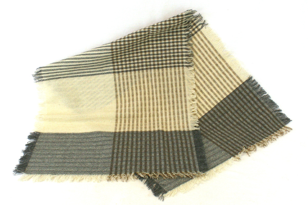 Set of 2 Natural Colored Liz Claiborne Scarves Made of Wool/Polyester/Rayon