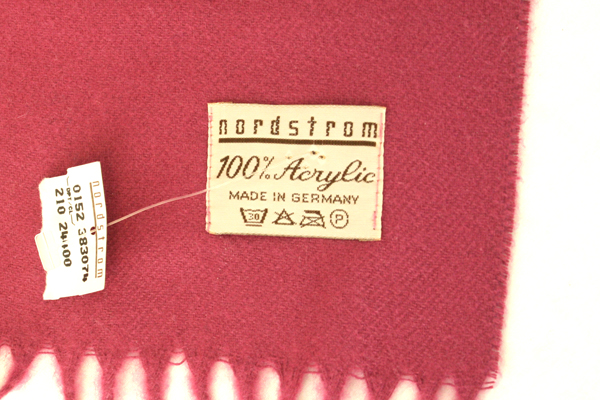 100% Acrylic Dark Pink Nordstrom Scarf & Jones New York Large Black Leather Belt