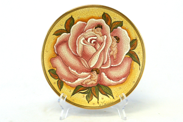 1975 V. Tiziano Flower Children LE of 3000 Veneto Flair Porcelain Plate w/ COA