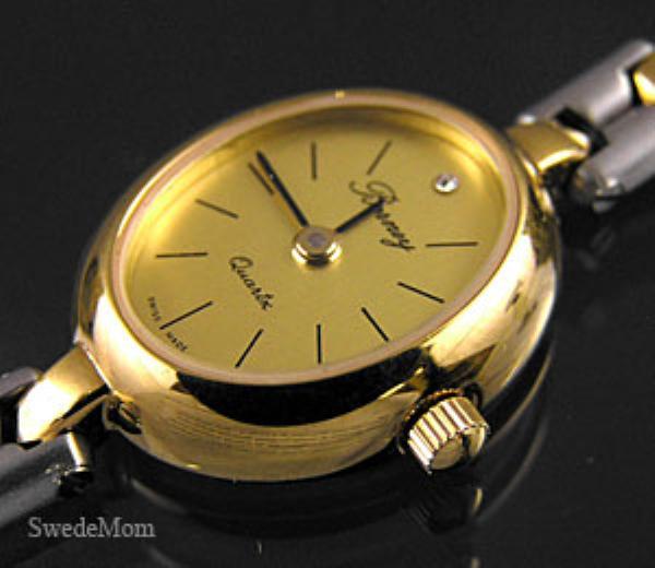 BERNEY Rhodium & Gold Overlay Bracelet Watch NEW