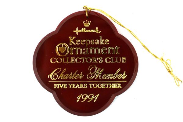 1991 Hallmark Keepsake Ornament Charter Member Five Years Together QXC315-9