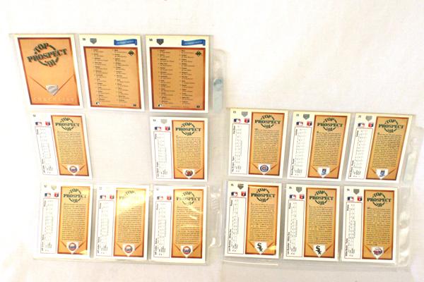 Over 40 Top Prospect '91 MLB Player Cards Upper Deck 1991