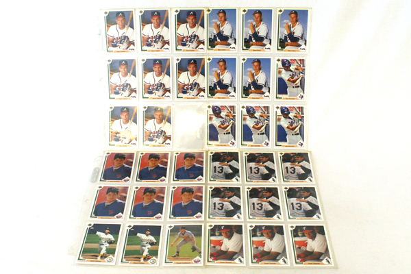 142 MLB Player Cards Upper Deck 1991 Collectible Baseball Cards