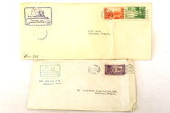 Lot of 2 Universal Ship Cancellation Society Covers 1934 Florida Minnesota