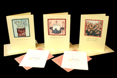 5 Greeting Cards Friends Coffee Here for You Cafe Garden BFF