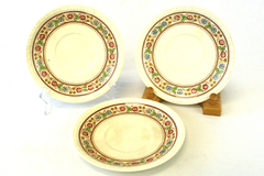 "3 Vintage Spode ""Firenze"" 7.25"" Soup Bowl Saucers # 2/9034 Copeland England"
