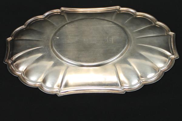 Gorham Rectangular Dish Scalloped Candy Nut Serving Tray Bevel Edge