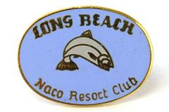 Long Beach Naco Resort Club Gold Tone Metal & Enamel Collectible Souvenir Pin