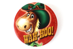 Wah-Hoo Cartoon Horse Pin Back Button