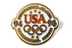 Centennial Games USA Gold Tone Metal Lapel Pin Collectible Souvenir 1994-1996