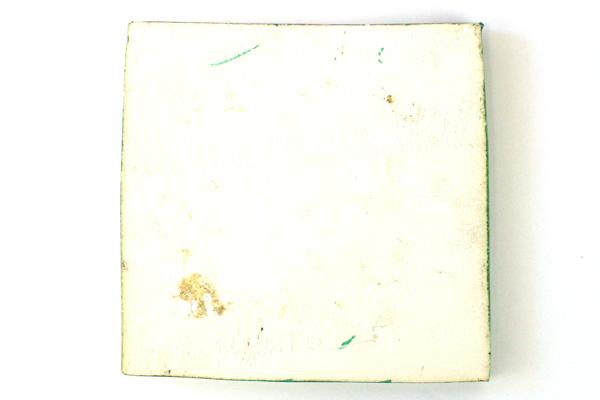 """6"""" Green Ceramic Tile Trivet Slab Pottery Art Decor"""