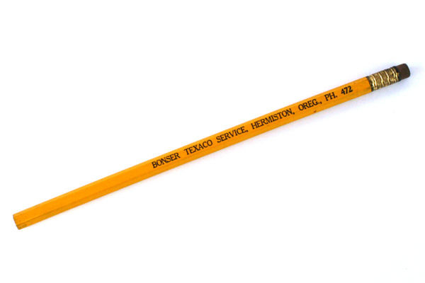 Vintage Goldenrod Bonser Texaco Service Hermiston, Oregon  Pencil