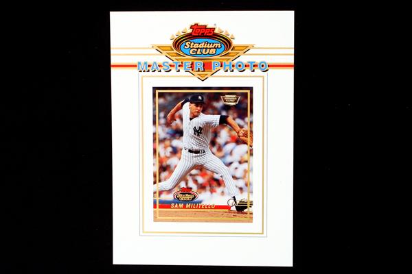 1993 TOPPS Stadium Club Baseball Master Photo NY Giants Sam Militello