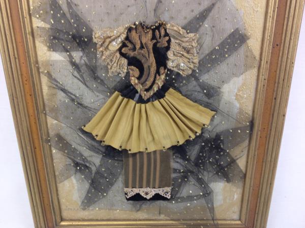 Dimensional Textile Collage Oregon Shakespeare OSF Art Deco Artist Signed Framed