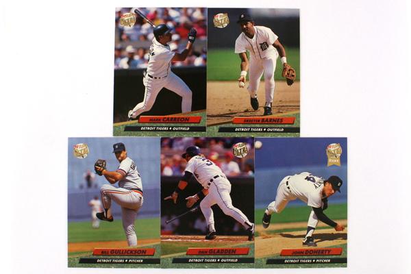 Fleer Ultra Series II Detroit Tigers 1992 Baseball Team Set of 11