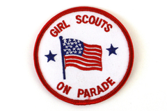 New Girl Scouts On Parade Patch Badge
