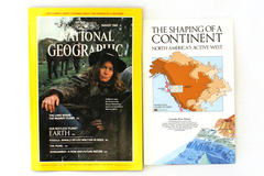 National Geographic August 1985 Vol 168 No 2 Supplement Map Shaping of Continent