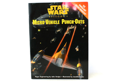 Star Wars Episode 1 Micro-Vehicle Random House Punch & Play Book 1999 LucasFilm