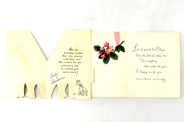 Lot of 4 Vintage Paper Greeting Cards Fathers Day/Birthday/Valentines Day