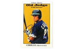 Old Judge T-95 Series Jeff Cirillo Card No. 10 Milwaukee 1995 Card w/ Signature