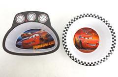 2 Disney Pixar CARS Lightning McQueen #95 Kid's Bowls Zak Designs Melamine