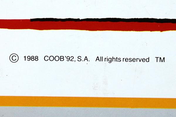 "1992 Olympics Barcelona COOB Tin Serving Tray 8.5"" x 12"""