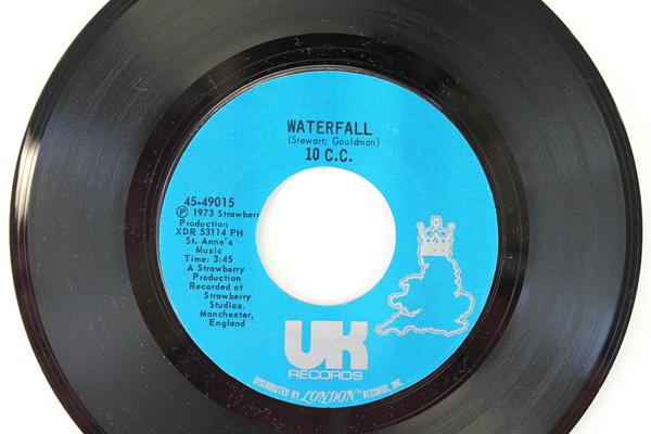 "1973 UK London Records 45 RPM Vinyl Rubber Bullets & Waterfall 7"""