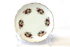 "Vintage 6.25"" Royal Crown Rose Decor Pattern #3256 Porcelain Plate"