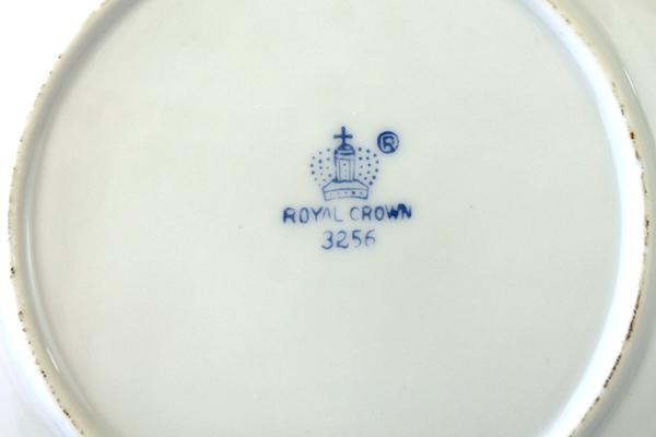 """Vintage 6.25"""" Royal Crown Rose Decor Pattern #3256 Porcelain Plate"""