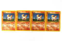 Lot of 4 Pokemon Ponyta Cards 60/102 40 HP