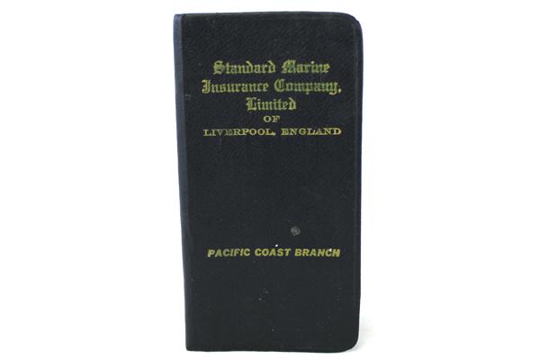 1954 Date Book Standard Marine Insurance Company Of Liverpool England