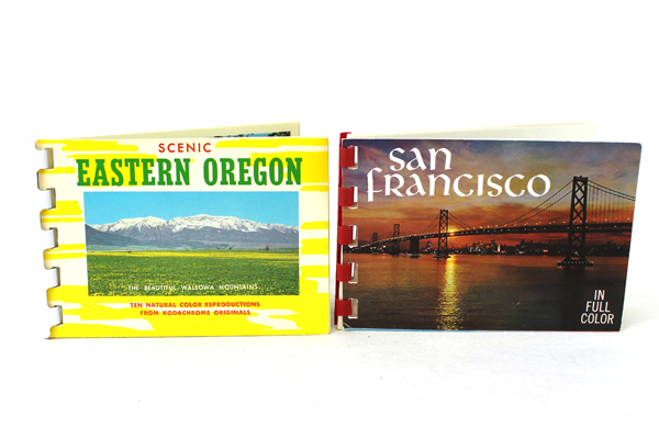 Lot Of Two Vintage Photo Booklets Scenic Eastern Oregon And San Francisco
