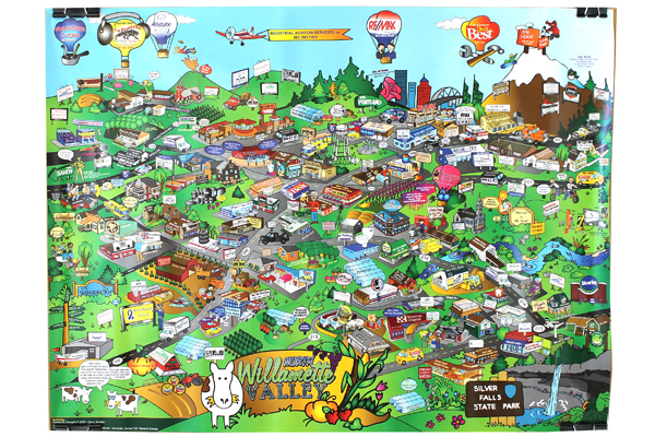 2009 Commmunity Concepts Poster Of Businesses In The North Willamette Valley