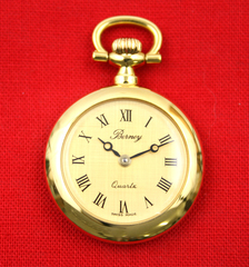 BERNEY Swiss Mini Pocket WATCH PENDANT Gold Overlay