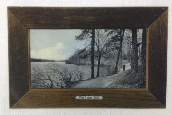 Lot 4 Vintage 1905 Postcard RPPC by Rotograph Co Poets Dream Lake Path Narrows