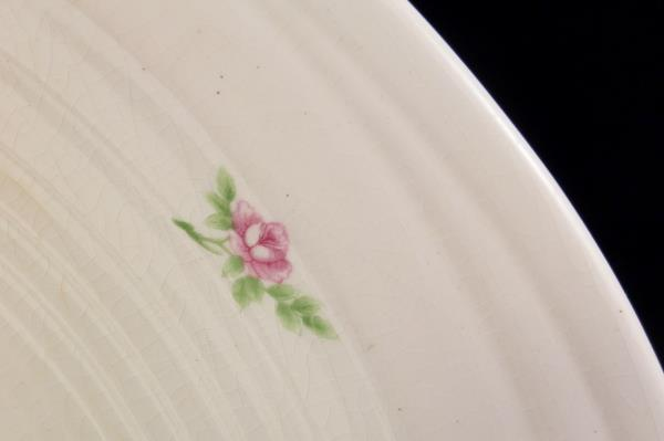 """James River Potteries Serving 13"""" Platter Virginia White with Pink Flowers"""