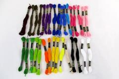 Lot of 32 Skeins Designs For The Needle Embroidery Floss NEW Many Colors