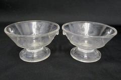 EAPG ca.1880 - Lot Of 2 - Actress Berry Bowls or Sauce Dishes Clear