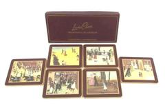 Set of 6 Lady Clare Regal Place Mats with Helen Bradley Art City People Coasters