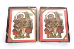 2 Boxes Of Eight Contempo Santa Note Cards With Envelopes