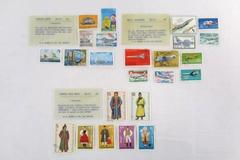 Lot of 3 H.E Harris Stamps Aviation Sailing Ships Exotic Folk Dress