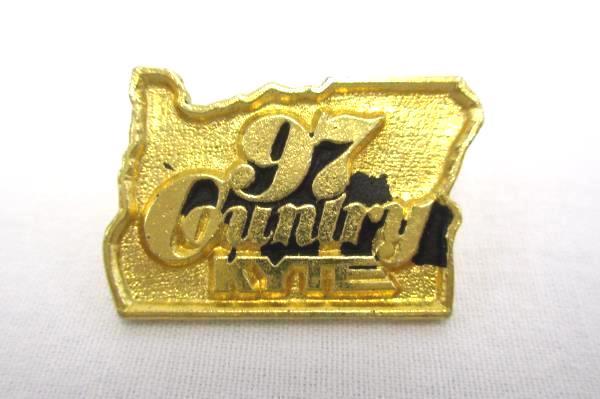Vintage 97 KYTE Portland Oregon Country Music Brass Pin Hat Lapel RARE