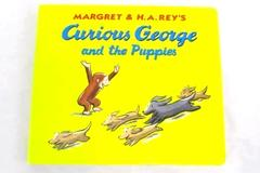 Curious George and the Puppies Board Book 1998 Margret and H.A. Rey's