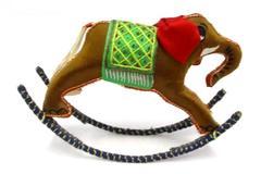 Vintage Fabric Rocking Elephant Ornate Detailed Figurine Handmade